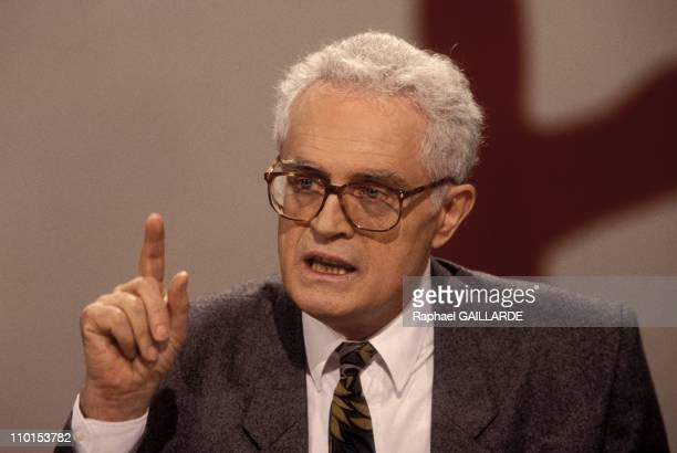 TV 'L'heure de Verite' with Lionel Jospin in Paris France on November 14 1993