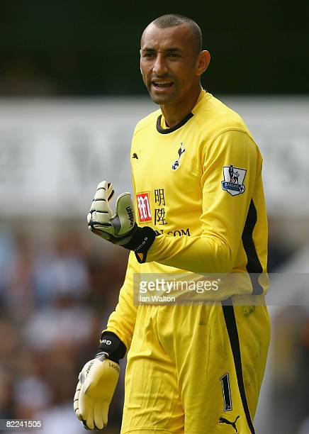 Heurelho Gomes of Tottenham Hotspur in action during the Pre Season Friendly match between Tottenham Hotspur and AS Roma at White Hart Lane on August...