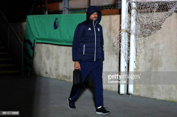 Heurelho Gomes of Watford arrives for the Premier League match between Crystal Palace and Watford at Selhurst Park on December 12 2017 in London...