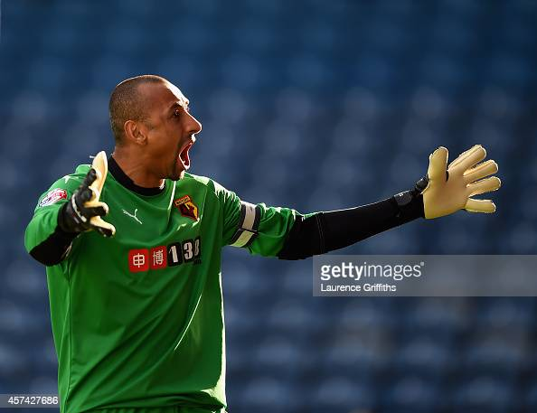 Heurelho Gomes of Watford celebrates the forst goal during the Sky Bet Championship match between Sheffield Wednesday and Watford at Hillsborough...