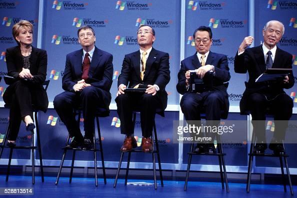 HewlettPackard Chairman and CEO Carly Fiorina Microsoft Chairman and Chief Software Architect Bill Gates Toshiba Senior Vice President Atsutoshi...