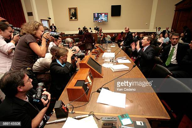HewlettPackard chief executive and new chairman Mark Hurd comments during the Congressional Subcommittee on Oversight and Investigations hearing on...