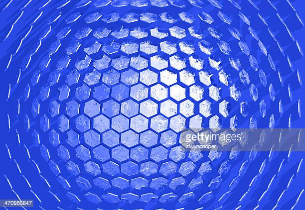 Hexadome blue