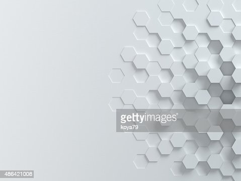 Fundo abstrato 3d hexagonal : Foto de stock