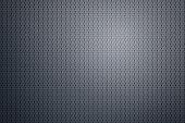 Spot lit hexagon pattern metal plate