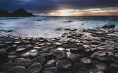 A storm lets loose at the Giant's Causeway, Ireland.