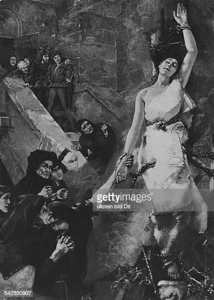 Hexenverbrennung im MittelalterNach einem Gemälde von Alb Keller