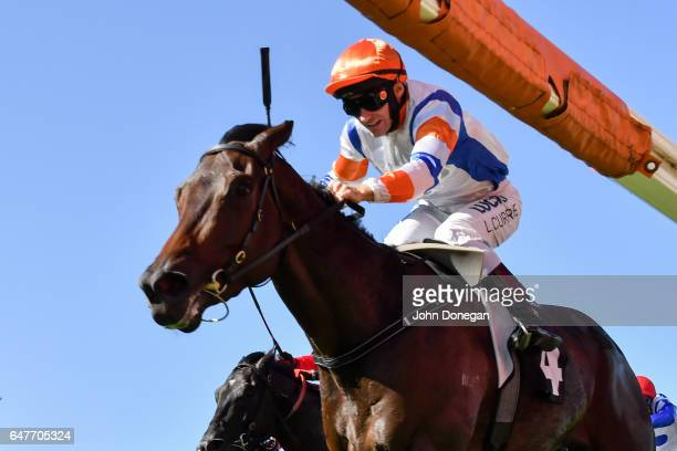Hey Doc ridden by Luke Currie wins the Australian Guineas at Flemington Racecourse on March 04 2017 in Flemington Australia