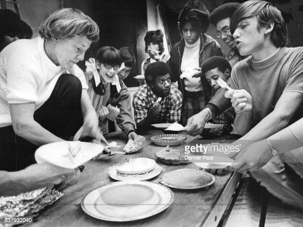 MAR 15 1971 MAR 20 1971 MAR 24 1971 'Hey I'm Watting for Some of That' Cast members from 'The East Side Story' get an advance sample of the...
