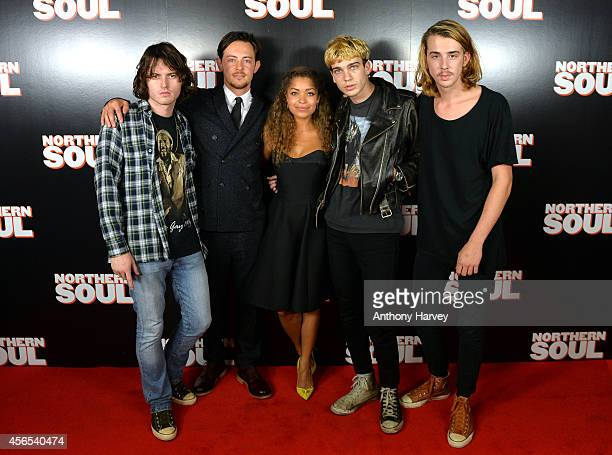 Hey Roco Elliot Langridge and Antonia Thomas attend the UK Gala screening of 'Northern Soul' at Curzon Soho on October 2 2014 in London England