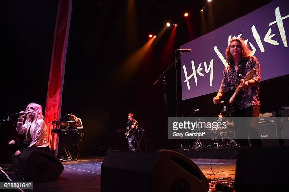 Hey Violet performs on stage during Z100 CocaCola All Access Lounge at Z100's Jingle Ball 2016 Presented by Capital One preshow at Hammerstein...