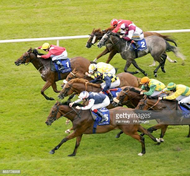 Hi Emperor ridden by Fran Berry go on to win the Marker Hotel Handicap during Darley Irish Oaks Day at Curragh Racecourse County Kildare