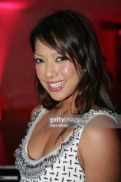 Hi Five Singer Kathleen De leon attends the Launch of Singer/Actress Sophie Monk promoting the new pushup BiofitBra by Pleasure State at a VIP red...