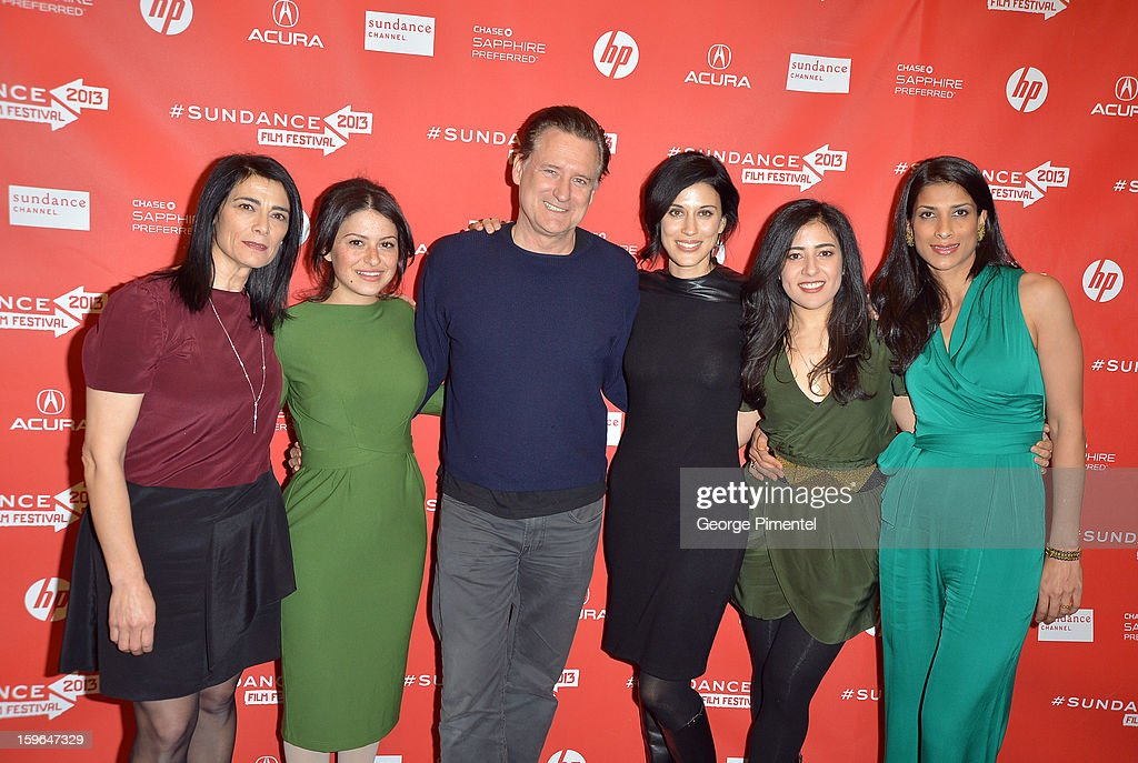 Hiam Abbass, Alia Shawkat, Bill Pullman, Cherien Dabis, Nadine Malouf and Ritu Singh Pande attend the 'May In The Summer' premiere during the 2013 Sundance Film Festival at Eccles Center Theatre on January 17, 2013 in Park City, Utah.
