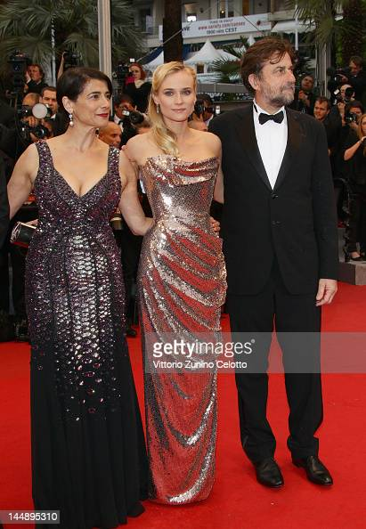 Hiam Abbass Diane Kruger and Jury president Nanni Moretti arrive at 'Amour' Premiere at the Palais des Festivals during the 65th Annual Cannes Film...