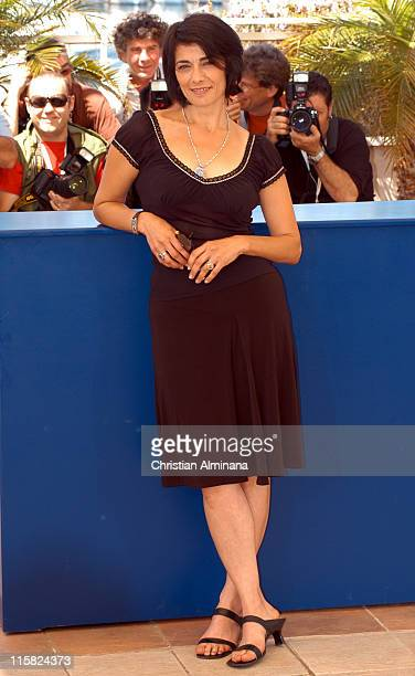 Hiam Abbass during 2005 Cannes Film Festival 'Free Zone' Photocall at Terrasse Riviera in Cannes France