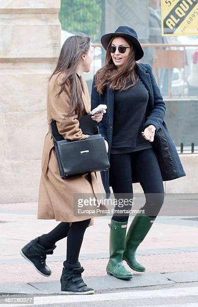 Hiba Abouk and Beatriz Montanez are seen on April 2 2014 in Madrid Spain