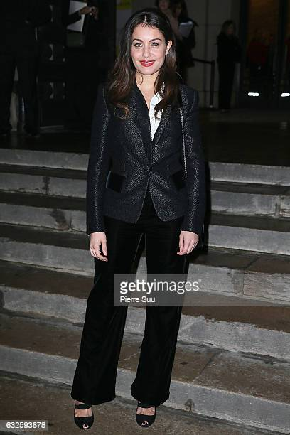 Hiba Abouk arrives at the Giorgio Armani Prive Haute Couture Spring Summer 2017 show as part of Paris Fashion Week on January 24 2017 in Paris France