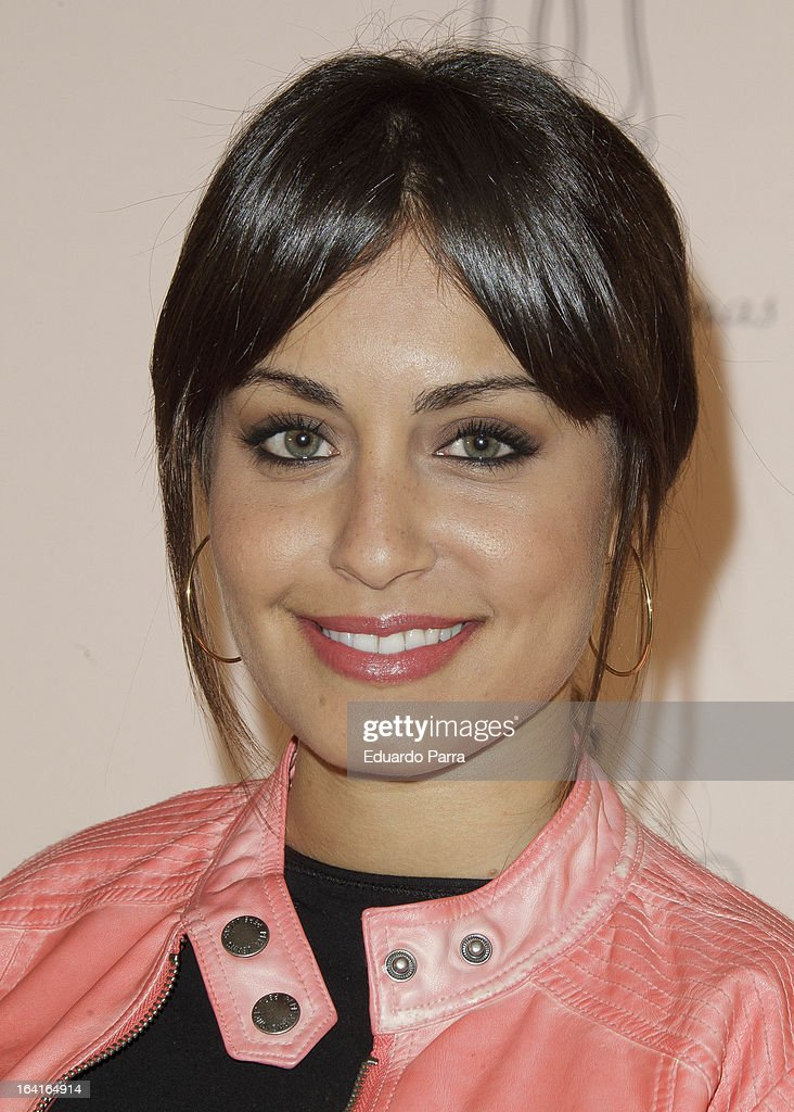 Hiba Abouk attends Pretty Ballerinas photocall party at Ramses bar on March 20, 2013 in Madrid, Spain.