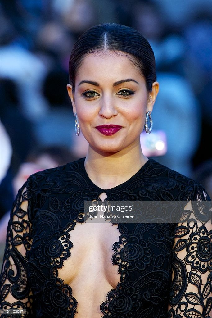 Hiba Abouk attends the 17th Malaga Film Festival 2014 closing ceremony at the Cervantes Theater on March 29, 2014 in Malaga, Spain.