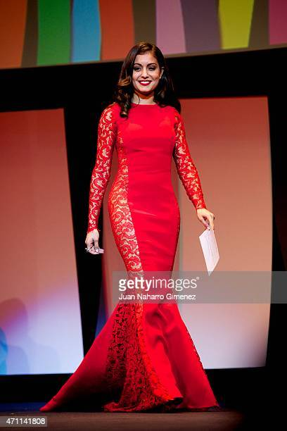 Hiba Abouk attends the 18th Malaga Spanish Film Festival ceremony at the Cervantes Theater on April 25 2015 in Malaga Spain