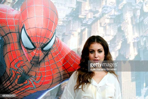 Hiba Abouk attends 'The Amazing SpiderMan 2 Rise Of Electro' premiere at US ambassador's residence on April 10 2014 in Madrid Spain