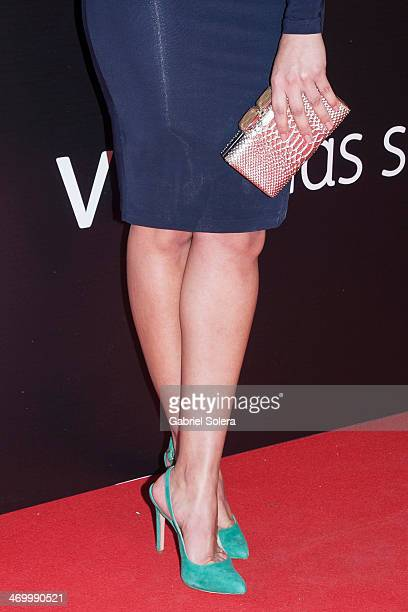 Hiba Abouk attends the 'BB' Madrid Premiere at Cinema Capitol on February 17 2014 in Madrid Spain