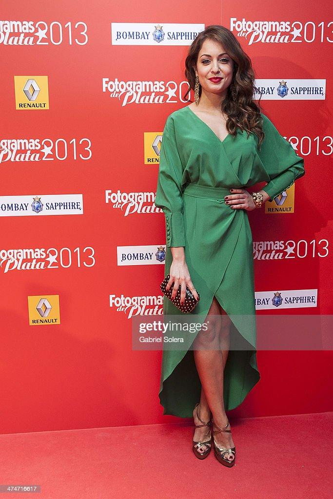 Hiba Abouk attends the 'Fotogramas Awards' 2013 at Joy Slava on February 24 2014 in Madrid Spain