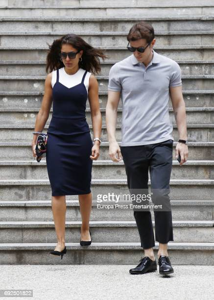 Hiba Abouk attends the funeral chapel for the fashion designer David Delfin at Dress Museum on June 4 2017 in Madrid Spain
