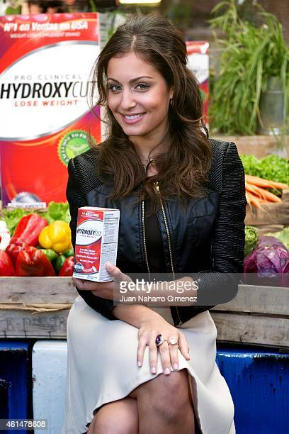 Hiba Abouk attends the 'Hydroxycut' presentation at Cocina San Anton on January 13 2015 in Madrid Spain