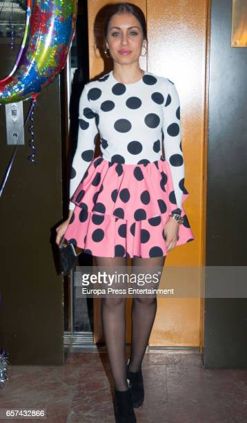 Hiba Abouk attends the Monica Cruz's 40th birthday party on March 14 2017 in Madrid Spain