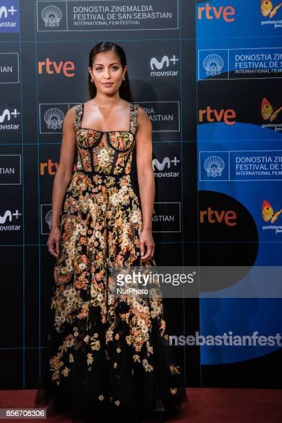 Hiba Abouk attends the red carpet of the closure gala during 65th San Sebastian Film Festival at Kursaal on September 30 2017 in San Sebastian Spain