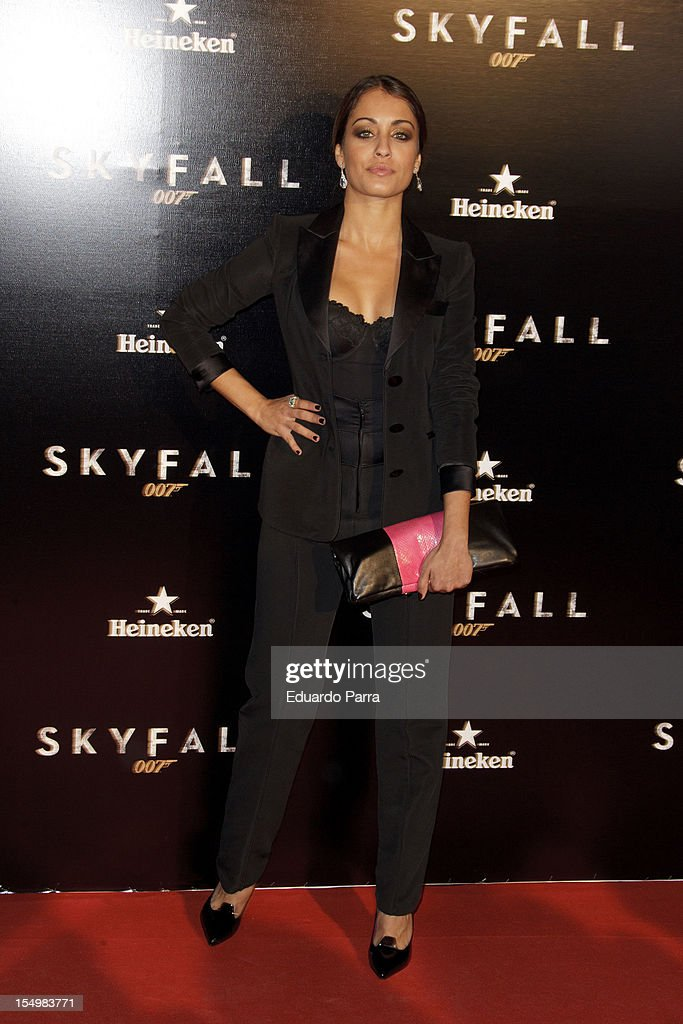 Hiba Abouk attends the 'Skyfall' photocall premiere at Santa Ana Square on October 29, 2012 in Madrid, Spain.
