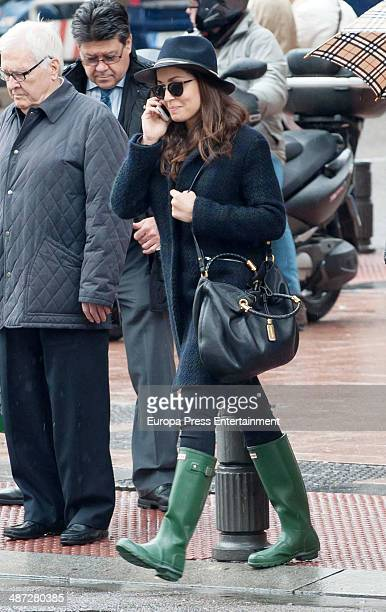 Hiba Abouk is seen on April 2 2014 in Madrid Spain