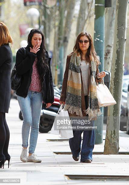 Hiba Abouk is seen on April 22 2014 in Madrid Spain