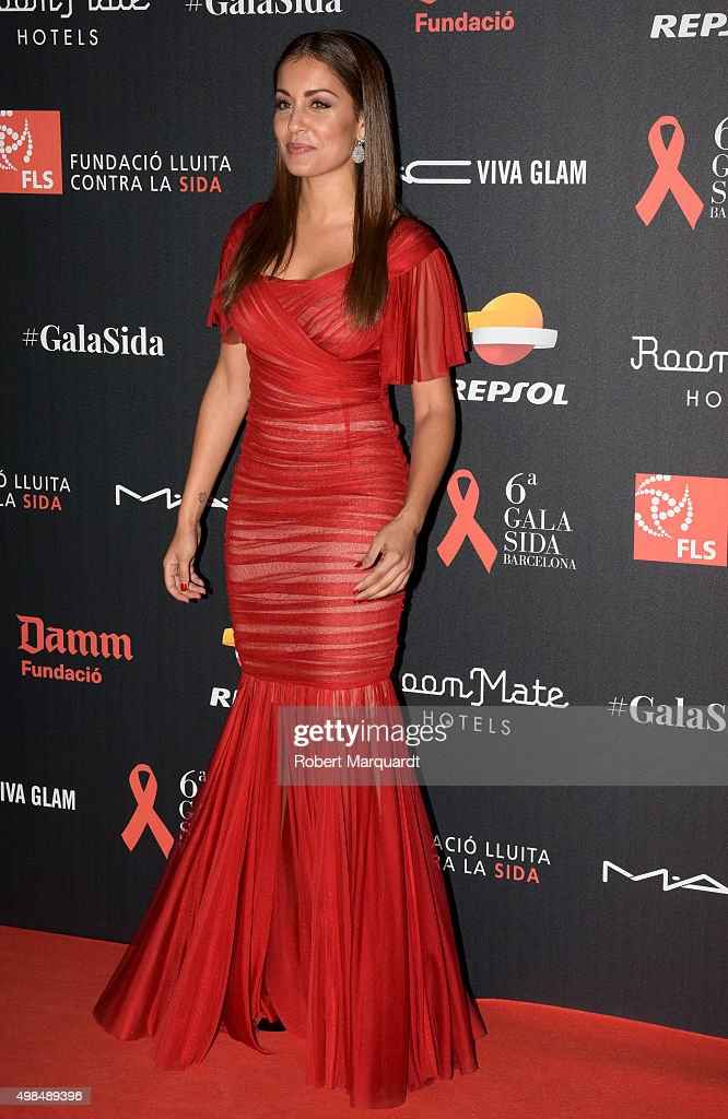 Hiba Abouk poses during a photocall for the '6th Gala Against Aids' held at the Museu Nacional d'Art de Catalunya on November 23 2015 in Barcelona...