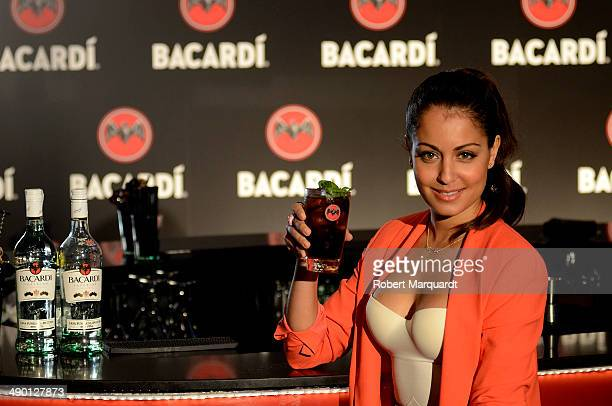 Hiba Abouk presents 'Bacardi Untameable Since 1862' at the Bacardi house on May 13 2014 in Sitges Spain