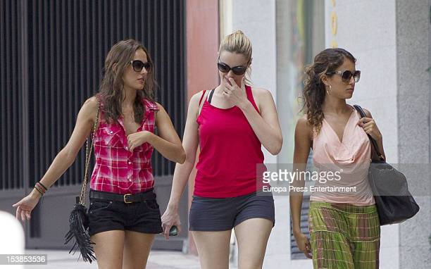 Hiba Abouk Silvia Alonso and Carolina Bang are seen on October 9 2012 in Madrid Spain