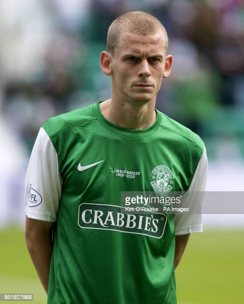 Hibernian's Scott Robertson during the Scottish Premier League match at Easter Road Edinburgh