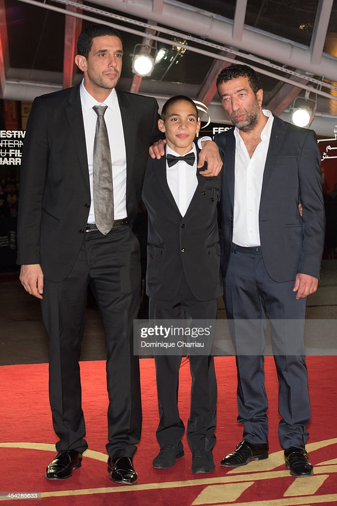 Hicham Ayouche, Slimane Dazi and Didier Michon attend the Award Ceremony of the 13th Marrakech International Film Festival on December 7, 2013 in Marrakech, Morocco.