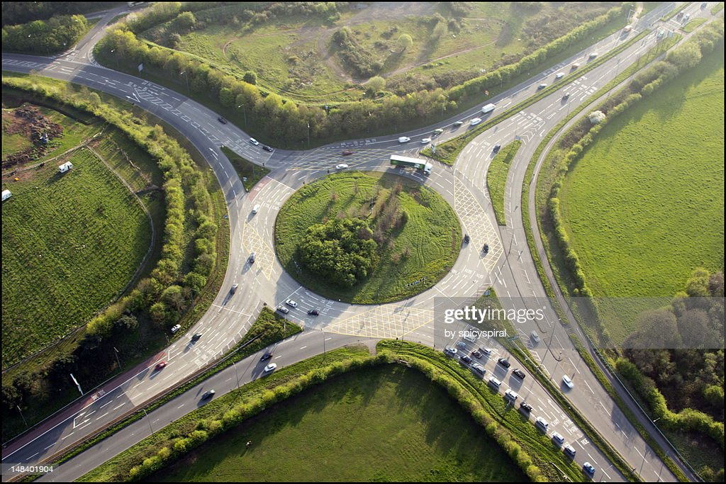 Hicks gate roundabout from above
