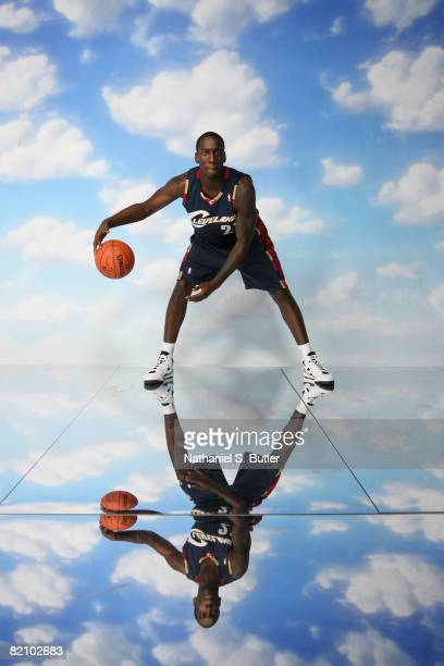 Hickson of the Cleveland Cavaliers poses for a portrait during the 2008 NBA Rookie Photo Shoot on July 29 2008 at the MSG Training Facility in...