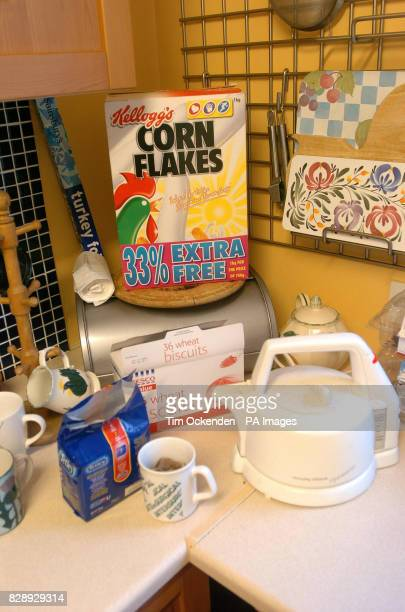 A hidden camera in a corn flakes packet that monitored the bad workmen in a terraced house in Leatherhead Surrey where Surrey Trading Standards...