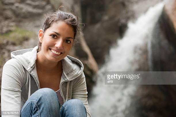 Wasserfall versteckte Höhle Zimitz Falls, österreichischen Alpen (XXXL