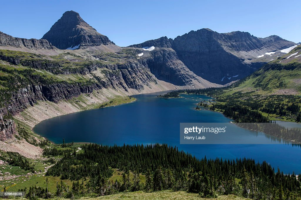 Hidden Lake With Reynolds Mountains Glacier National Park Montana - United states mountains