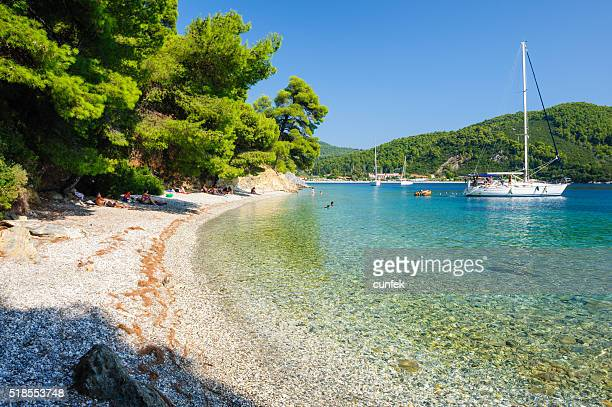 Hidden part of Adrina beach Skopelos