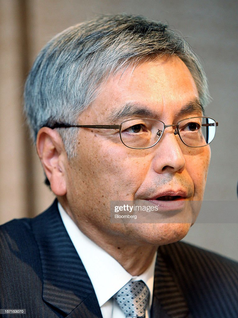 <a gi-track='captionPersonalityLinkClicked' href=/galleries/search?phrase=Hideaki+Omiya&family=editorial&specificpeople=5398116 ng-click='$event.stopPropagation()'>Hideaki Omiya</a>, president and chief executive officer of Mitsubishi Heavy Industries Ltd., speaks during a joint news conference with Hiroaki Nakanishi, president of Hitachi Ltd., unseen, in Tokyo, Japan, on Thursday, Nov. 29, 2012. Mitsubishi Heavy Industries and Hitachi agreed to merge power-equipment businesses with combined sales of 1.1 trillion yen ($13 billion) to bolster their product line-ups and global sales reach. Photographer: Haruyoshi Yamaguchi/Bloomberg via Getty Images
