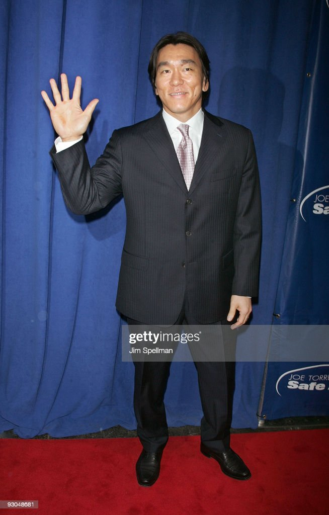 Hideki Matsui attends the 7th annual Safe at Home gala at Pier Sixty at Chelsea Piers on November 13, 2009 in New York City.