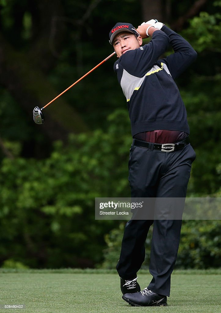 <a gi-track='captionPersonalityLinkClicked' href=/galleries/search?phrase=Hideki+Matsuyama&family=editorial&specificpeople=5566852 ng-click='$event.stopPropagation()'>Hideki Matsuyama</a> hits a tee shot on the 16th hole during the first round of the 2016 Wells Fargo Championship at Quail Hollow Club on May 5, 2016 in Charlotte, North Carolina.