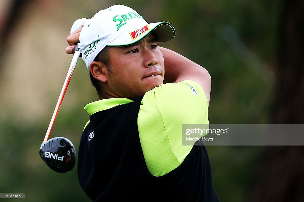 Hideki Matsuyama of Japan hits a tee shot on the 2nd hole during the third round of the Waste Management Phoenix Open at TPC Scottsdale on January 31, 2015 in Scottsdale, Arizona.